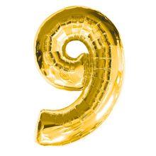 """Balón """"9"""" zlatý"""
