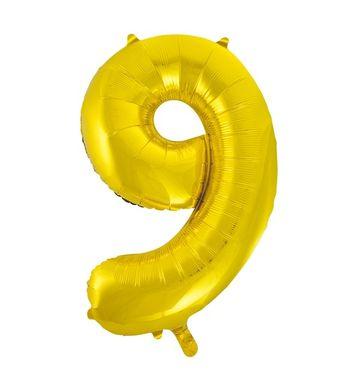 """Fóliový balón Číslo """"9"""" zlatý"""