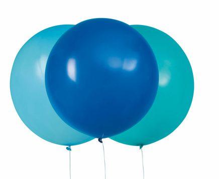 Balóny veľké modro-tyrkysové