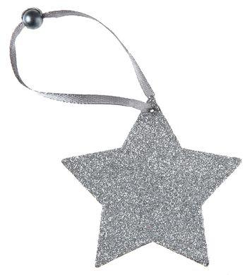 Dekorácia so šnúrkou Hviezda strieborná