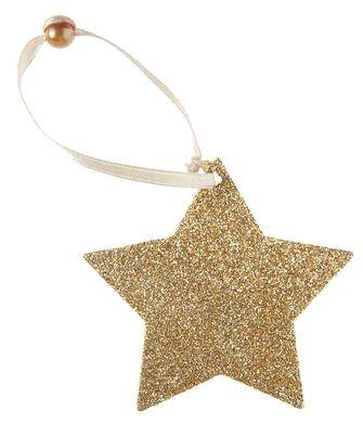 Dekorácia so šnúrkou Hviezda zlatá