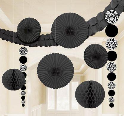 Dekoračná sada miestnosti čierna