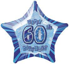 Fóliová hviezda modrá 60