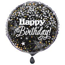 Fóliový balón Happy Birthday Glittering