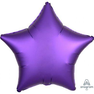 Fóliový balón hviezda Satin Luxe fialový