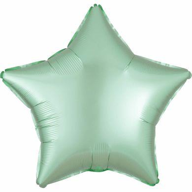Fóliový balón hviezda Satin Luxe mentolový