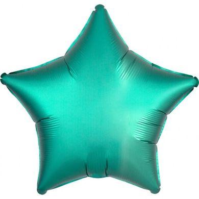 Fóliový balón hviezda Satin Luxe tyrkysový