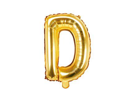 """Fóliový balón Písmeno """"D"""" zlatý"""