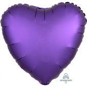 Fóliový balón srdce Satin Luxe fialový