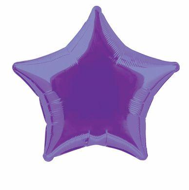 Fóliový balón star fialový (nebalený)