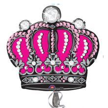 Fóliový balón supershape Ružová koruna*