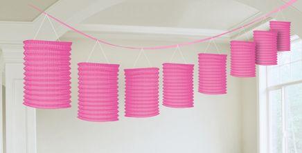Girlanda lampióny ružová
