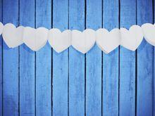 Girlanda srdcová biela