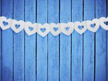 Girlanda srdcová biela s výrezom