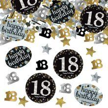 """Konfety Happy Birthday """"18"""" Gold Diamonds"""
