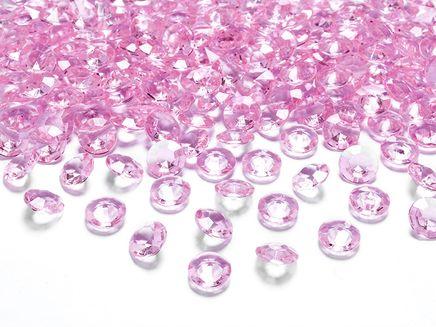 Kryštálové diamanty svetloružové