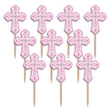 Napichovátka krížik ružové