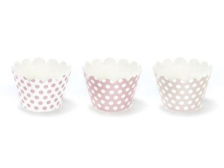 Obal na cupcakes Ružové bodky