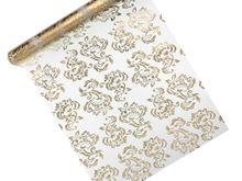 Organza s potlačou zlatý ornament
