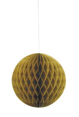 Papierová guľa Honeycomb zlatá
