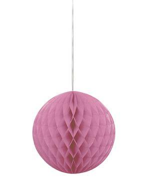 Papierová guľa Honeycomb hot pink