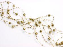 Perleťové girlandy zlaté