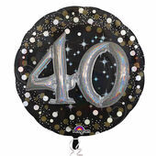 "Prémiový multi balón ""40"" Gold Diamonds"