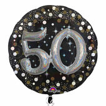 "Prémiový multi balón ""50"" Gold Diamonds"