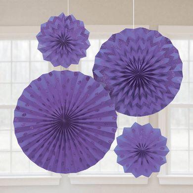 Rozetky s trblietkami fialové
