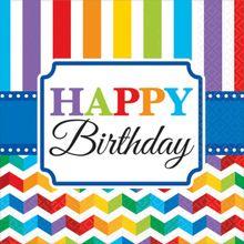 Servítky Birthday Bright rainbow