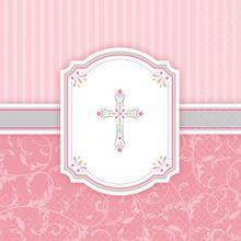 Servítky krížik ružové