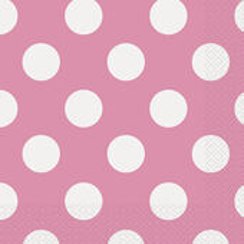 Servítky ružové bodky