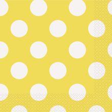Servítky žlté bodky