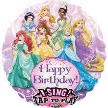 Spievajúci fóliový balón Disney Princezné