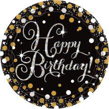 Tanierik Happy Birthday Gold Diamonds