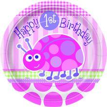 Tanierik malý 1.narodeniny lienka