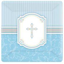 Tanierik modrý krížik