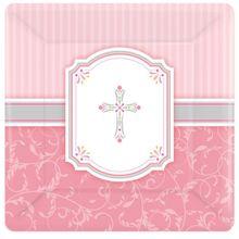 Tanierik ružový krížik