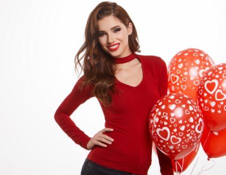 valentynske balóny