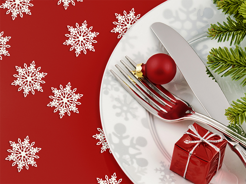 Karácsonyi teríték és díszítés