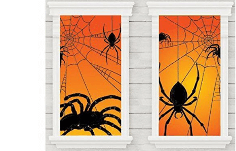 Halloweenske dekorácie na okno a stenu