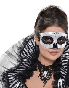 Halloweenske masky a škrabošky na tvár