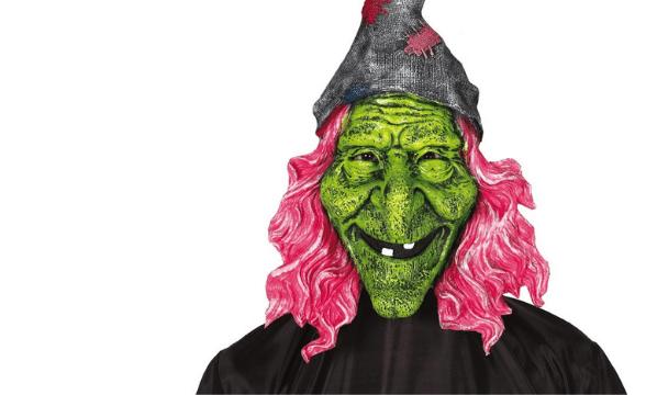 Halloween masky na obličej, masky na oči a škrabošky
