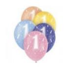 Latexové balóny s číslicami