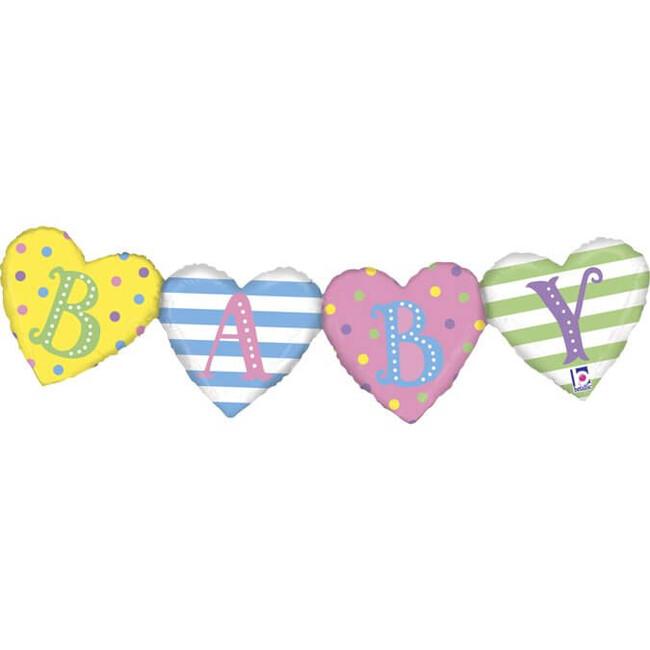Grabo Balónový banner Baby srdce 104cm