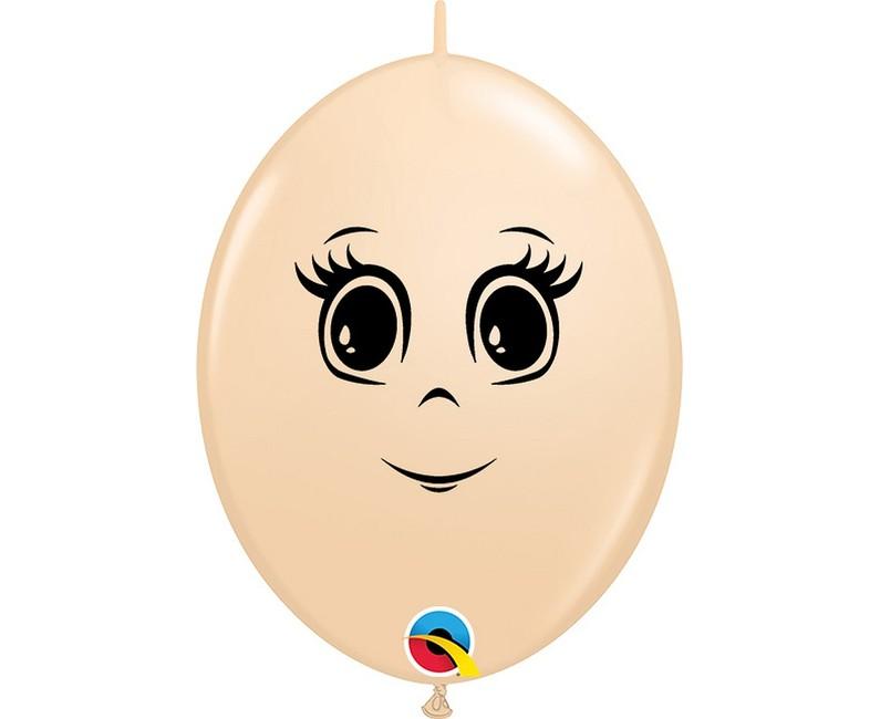 Qualatex Balóny Femine Face 15cm 50ks
