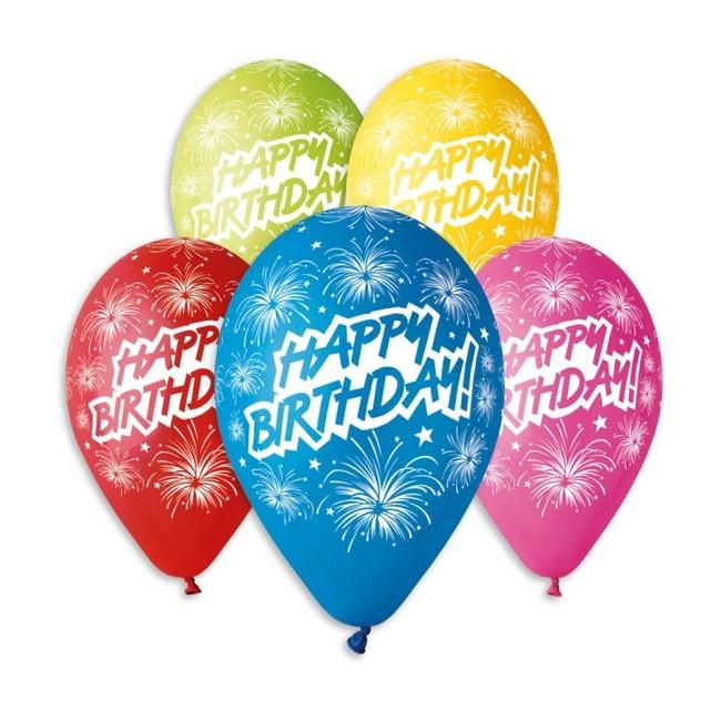 Gemar Balóny Happy Birthday Fireworks 30cm 10ks