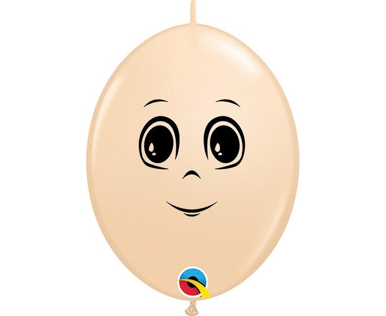 Qualatex Balóny Man Face 15cm 50ks