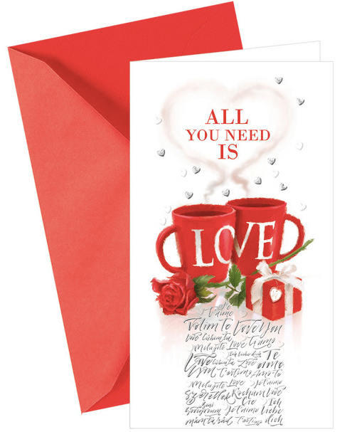 Argus Pohľadnica na Valentína All You Need Is Love