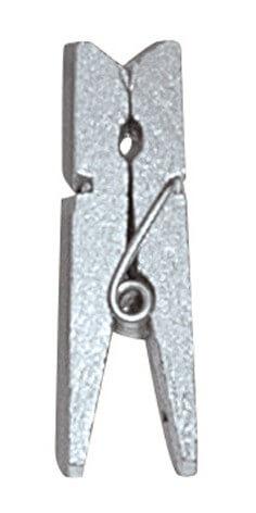 Santex Dekoračné štipce metalické strieborné 24ks